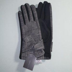 NWT Suzy Shier Glen Plaid gloves